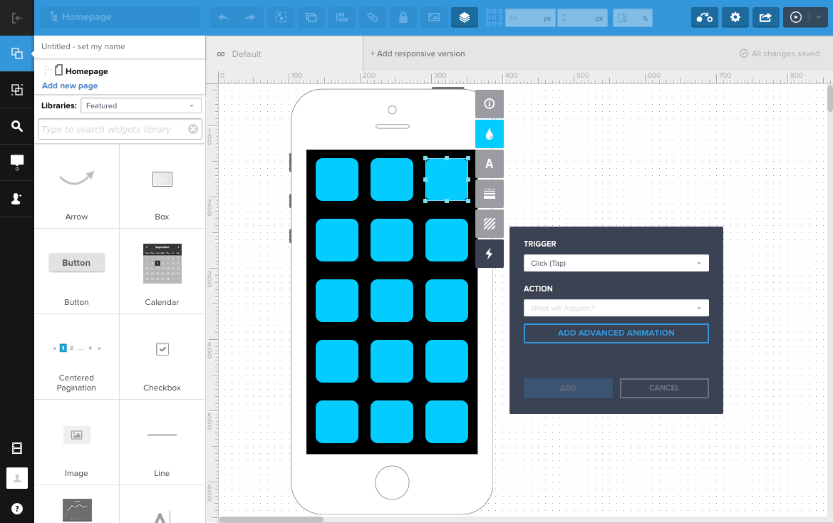 UXPIN wireframe tool CNC